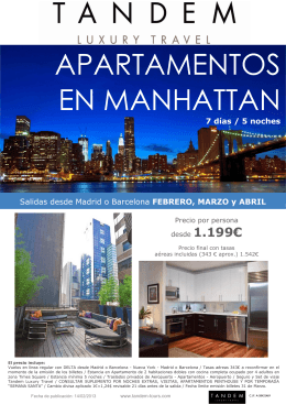 tandem - luxury apartments en manhattan febrero-marzo