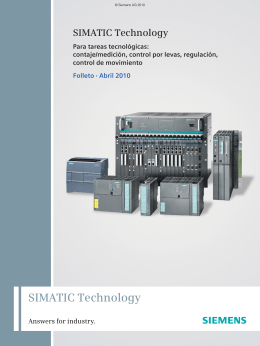 SIMATIC Technology - Automation Technology