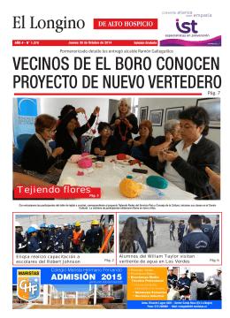 VECINOS DE EL BORO CONOCEN PROYECTO DE NUEVO