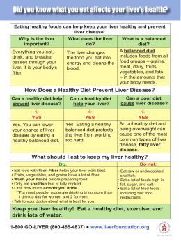 Did you know what you eat affects your liver`s health?