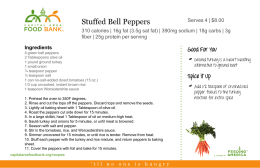 Stuffed Bell Peppers - Capital Area Food Bank