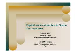 Capital stock estimation in Spain.