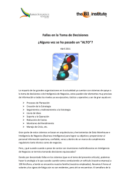 Fallas en la Toma de Decisiones - Business Intelligence Advisory