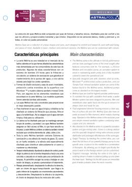 4.4. Características principales Main characteristics