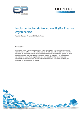 Implementación de fax sobre IP (FoIP) en su organización - E