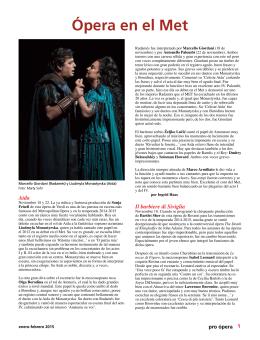 Ópera en el Met