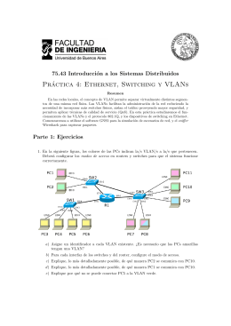 Práctica 4: Ethernet, Switching y VLANs