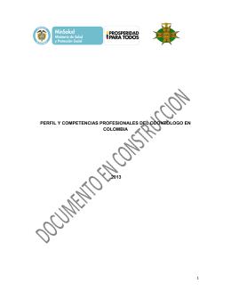 Odontologia_Octubre2014 - Ministerio de Salud y Protección Social