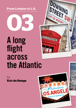 A long flight across the Atlantic