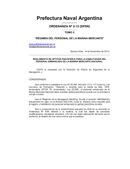 Nueva Ordenanza Nº 2-13 (DPSN)