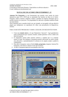 manual AUTORUN PRO ENTERPRISE V