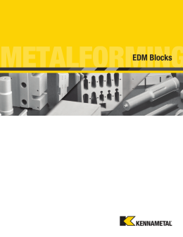 EDM Blocks - Kennametal