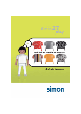 Simon 27 serie, catálogo mecanismos Simon enchufes