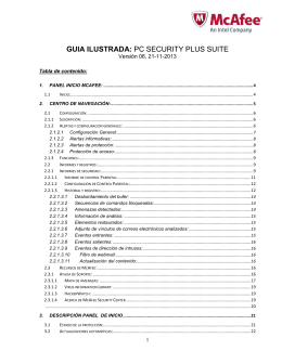 GUIA ILUSTRADA: PC SECURITY PLUS SUITE
