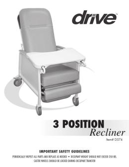 Sillón reclinable de 3 POSICIONES