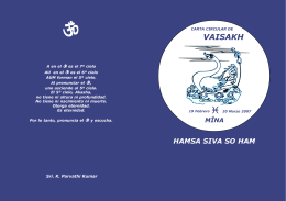 Circular de Vaisakh Piscis 2007 - WTT
