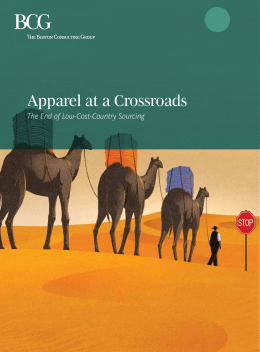 Apparel at a Crossroads: The End of Low-Cost-Country