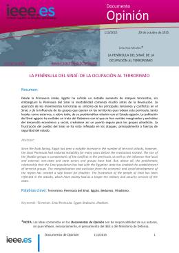 La Península del Sinaí - Instituto Español de Estudios Estratégicos