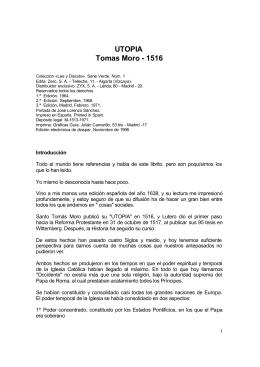 Tomas Moro - Utopia
