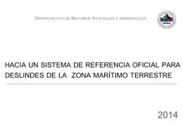 Hacia un sistema de referencia oficial para deslindes de la