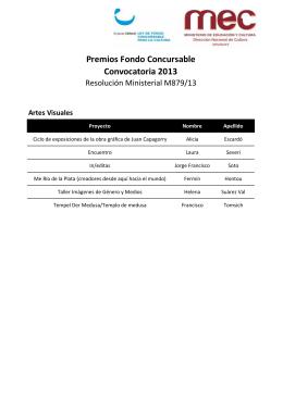 Premios - Fondo Concursable para la Cultura