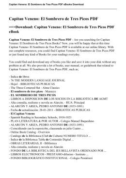 Capitan Veneno: El Sombrero de Tres Picos PDF eBook