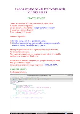 Vulnerabilidades Web
