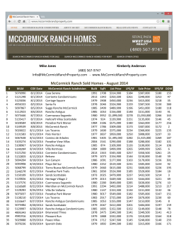 McCormick Ranch Sold Homes