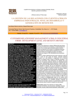 la gestión de las relaciones con clientes (crm) en empresas