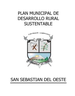 plan municipal de desarrollo rural sustentable san sebastian del oeste