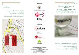 Inauguración: Euroforum Infantes (Sala Índico) Curso: Hotel Los