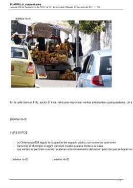 {sidebar id=4} En la calle Samuel Fritz, sector El Inca, vehículos