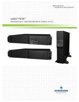 Liebert® PSI XR™ - Emerson Network Power