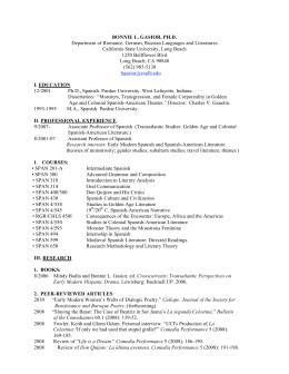 Full Curriculum Vitae - California State University, Long Beach