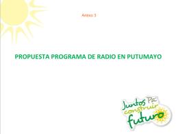 Anexo No.3 Esquema programa radio