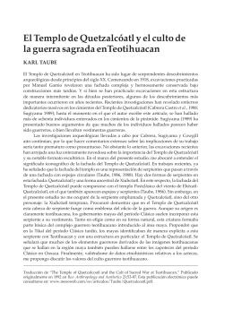El Templo de Quetzalcóatl y el culto de la guerra sagrada
