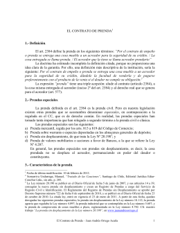 EL CONTRATO DE PRENDA - Juan Andrés Orrego Acuña
