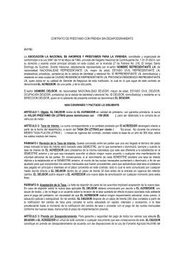 LN. Contrato de Préstamo de Prenda Sin Desapoderamiento