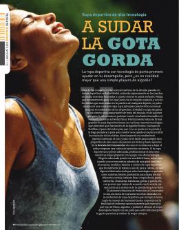A SUDAR LA GOTA GORDA - Revista del Consumidor en Línea
