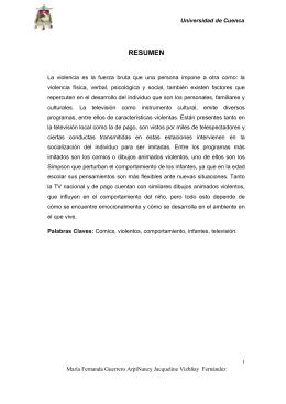 RESUMEN - Universidad de Cuenca