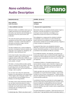Nano Exhibition Audio Description Script Spanish translation 8-7-14c