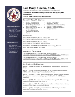 Teacher Resume - Texas A&M University