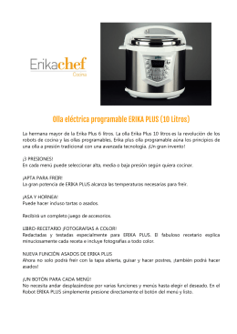 Olla eléctrica programable ERIKA PLUS (10 Litros)