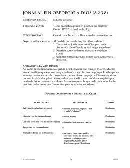 JONÁS AL FIN OBEDECIÓ A DIOS (A.2.3.8)
