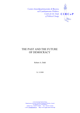 THE PAST AND THE FUTURE OF DEMOCRACY C I R C a P