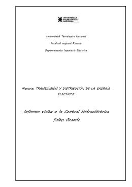 Informe visita a la Central Hidroeléctrica Salto Grande