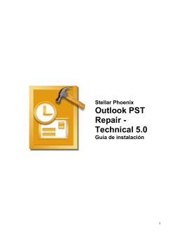 Outlook PST Repair - Technical 5.0
