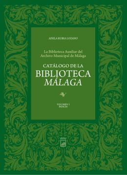 Índices Catálogo de la Biblioteca de Málaga