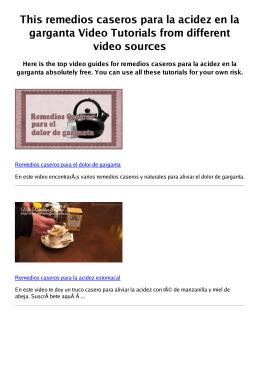 #Z remedios caseros para la acidez en la garganta PDF