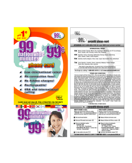 99nationwide minutes - 99 Cents Only Phone Cards